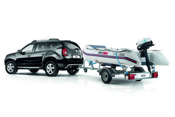Dacia Duster with a Yamaha boat special edition in Europe