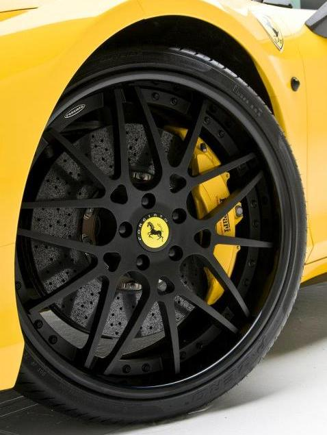 Ferrari with yellow calipers