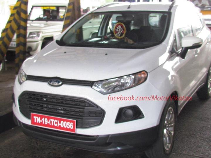 white Ford EcoSport front