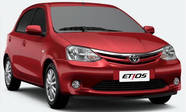 Toyota Etios hatchback for Brazil front three quarters