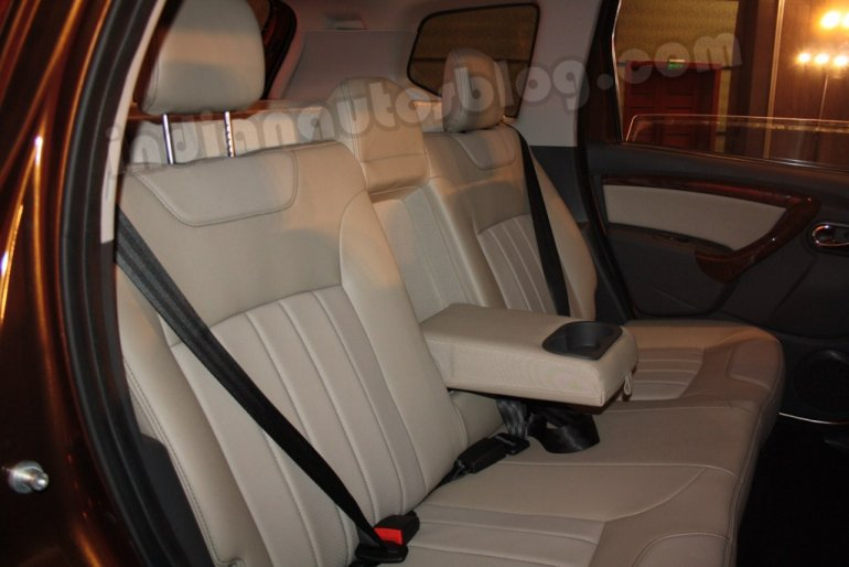 Renault Duster rear seat