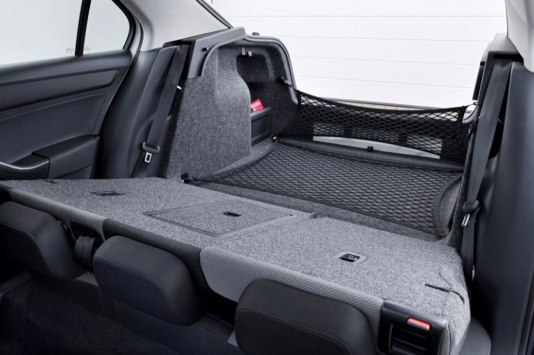 Skoda Rapid European edition rear seat folded