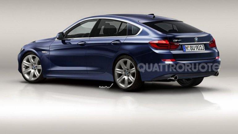 BMW 3 series GT rendering rear three quarters