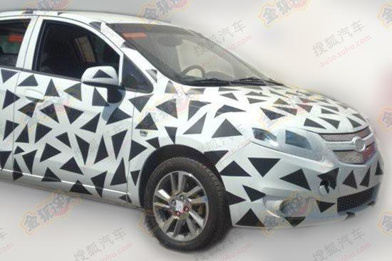 Chevrolet Sail EV spyshot