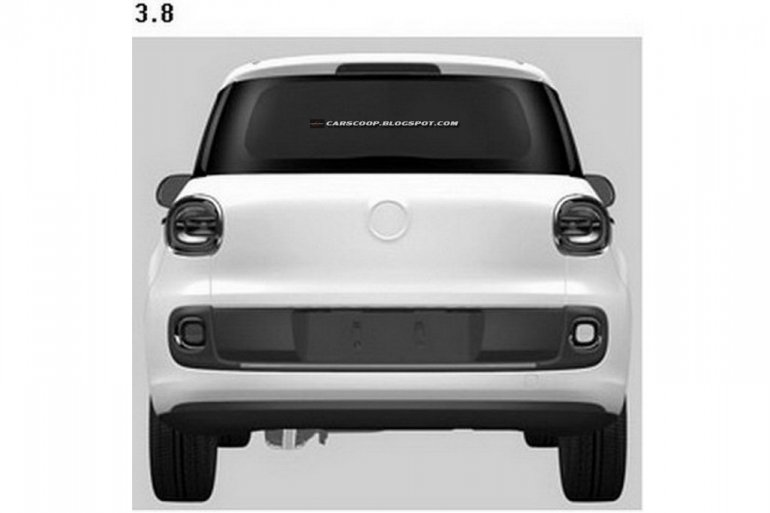 Fiat 500XL rear fascia