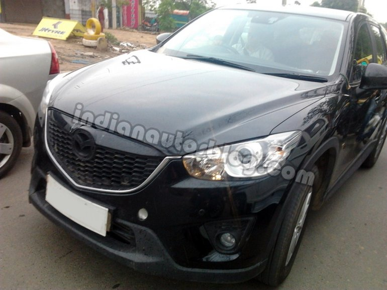 Mazda CX-5 test mule India front grille