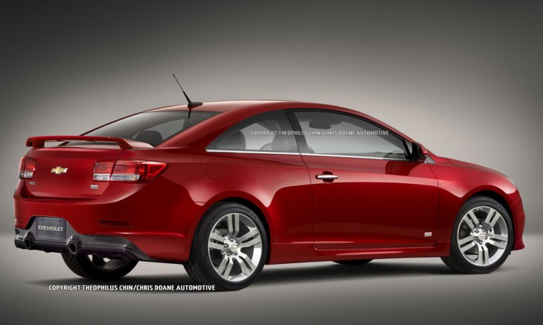2012 Chevrolet Cruze Coupe rear