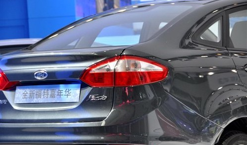 Facelifted Ford Fiesta rear