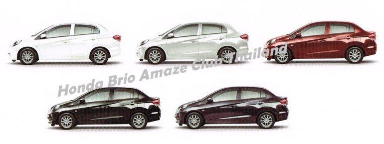 Honda Brio Amaze color options