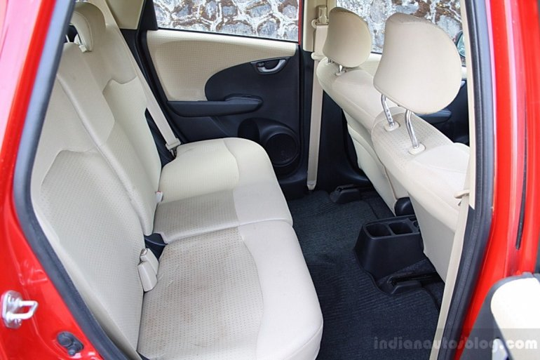 Honda Jazz facelift rear seats