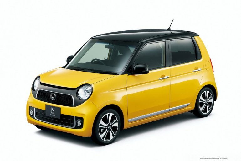 Honda N-One yellow black