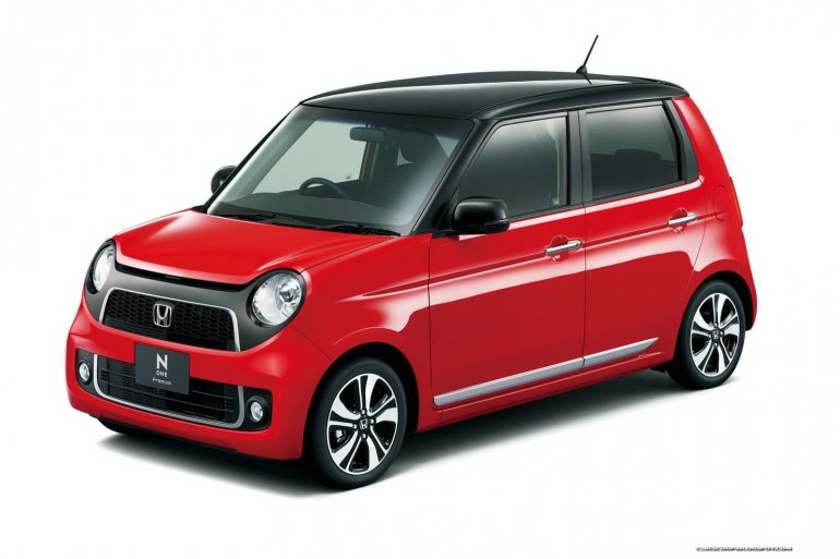 Honda N-One red with black roof