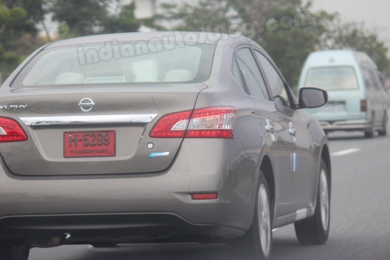 Nissan Sylphy with test plates in Thailand