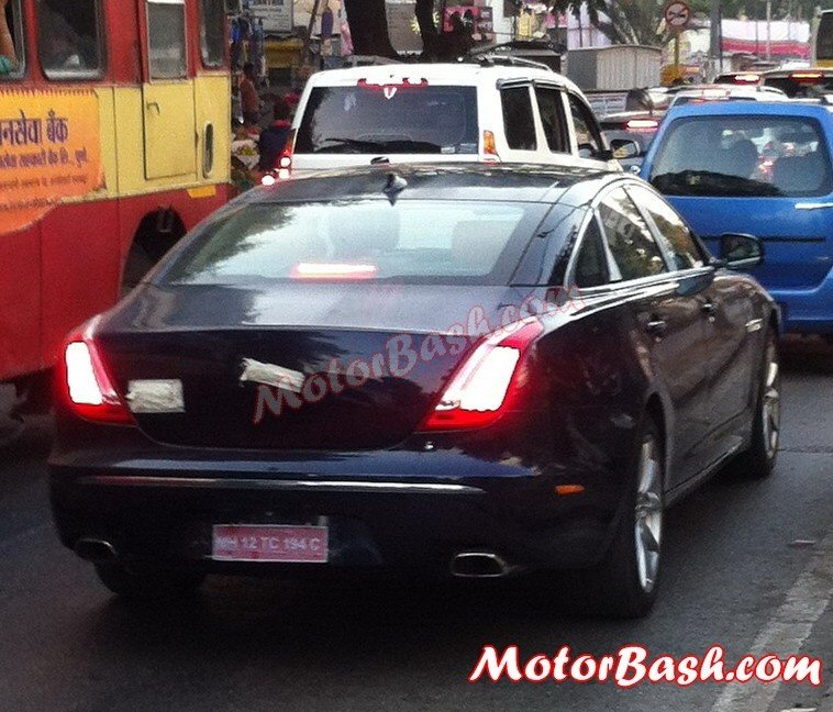 Jaguar XJ Ultimate Edition rear spied