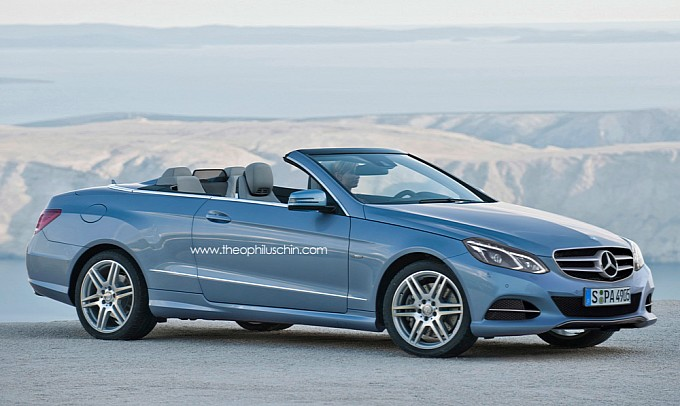 New Mercedes E Class Cabriolet front