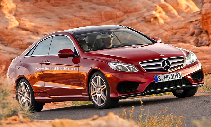 New Mercedes E Class Coupe  front