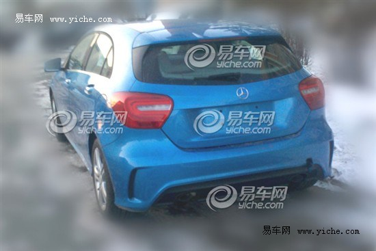 mercedes A Class china spyshot rear