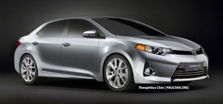 2014 Toyota Corolla rendering