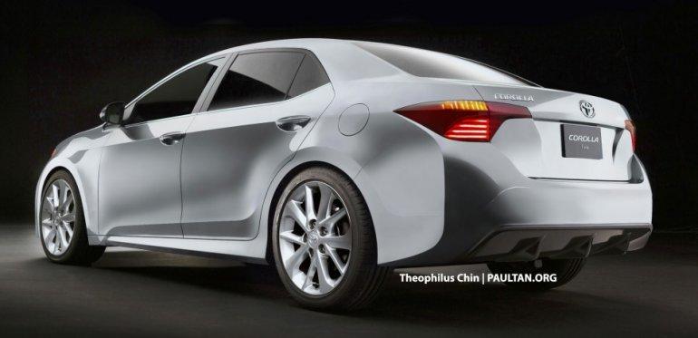 2014 Toyota Corolla rear rendering