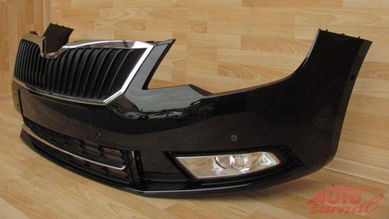 Skoda superb facelift front bumper left