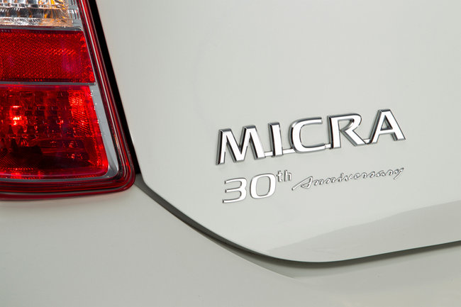 Nissan Micra 30th Anniversary special badge