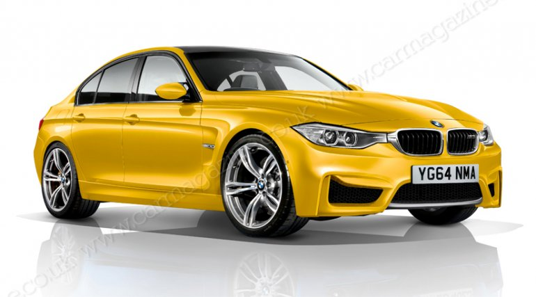 2014 BMW M3 Rendering front