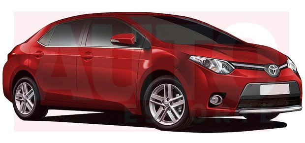 2014 Toyota Corolla front render