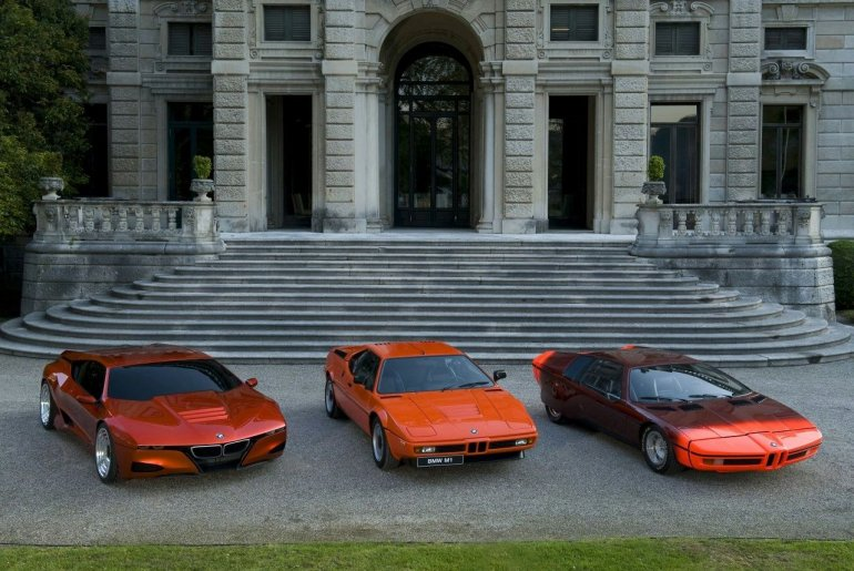 BMW M1 Homage Concept next to the BMW M1