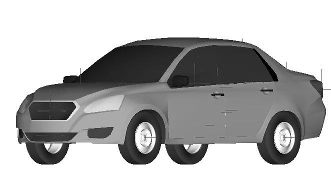 Datsun sedan russia patent leak front quarter