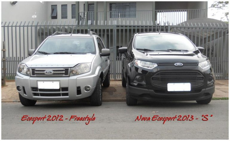 Ford EcoSport new vs old front