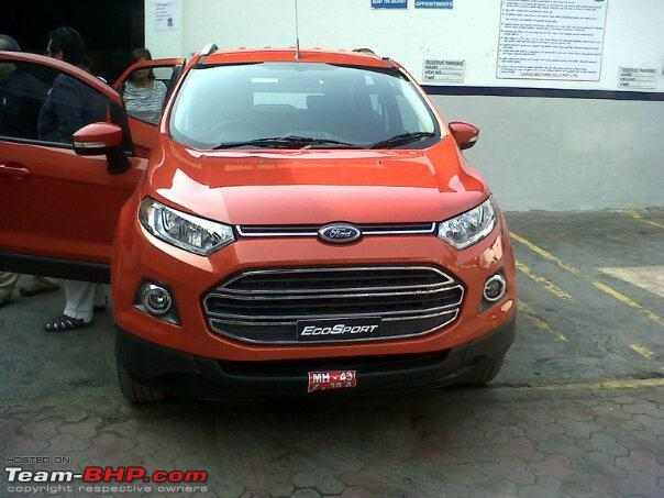 Ford EcoSport spotted in Mumbai workshop