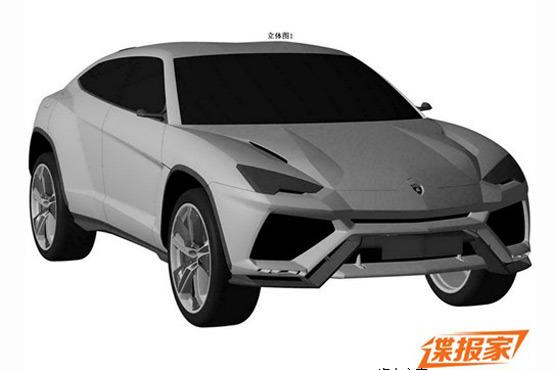 Lamborghini Urus patent leak front quarter