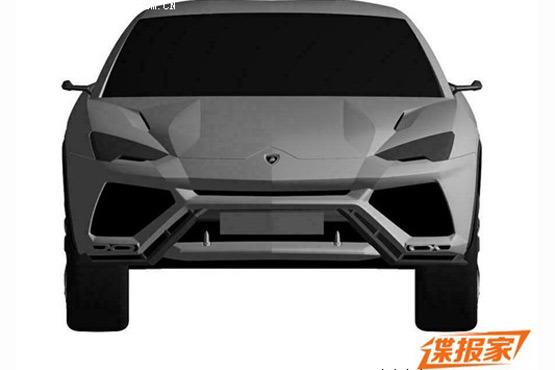 Lamborghini Urus patent leak front