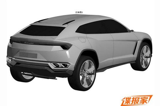Lamborghini Urus patent leak rear quarter