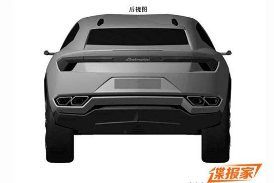 Lamborghini Urus patent leak rear