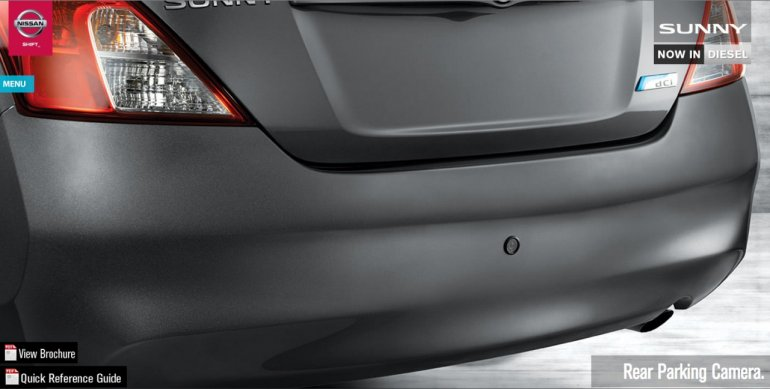 Nissan Sunny XV special edition rear parking sensors