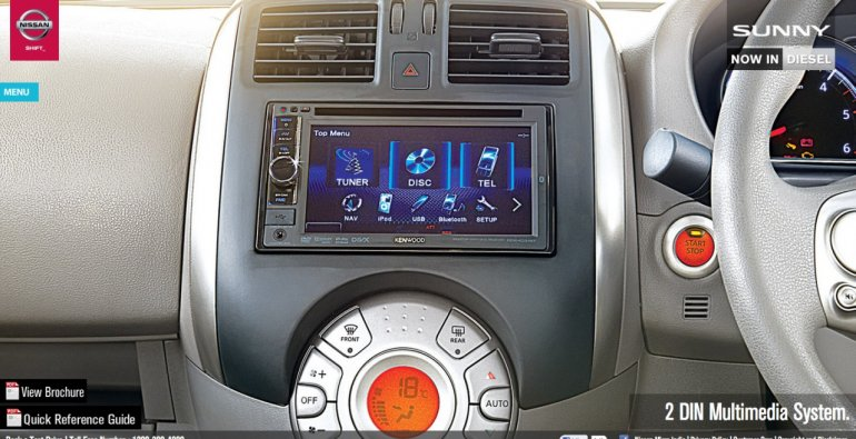 Nissan Sunny XV special edition touchscreen 2 DIN music system