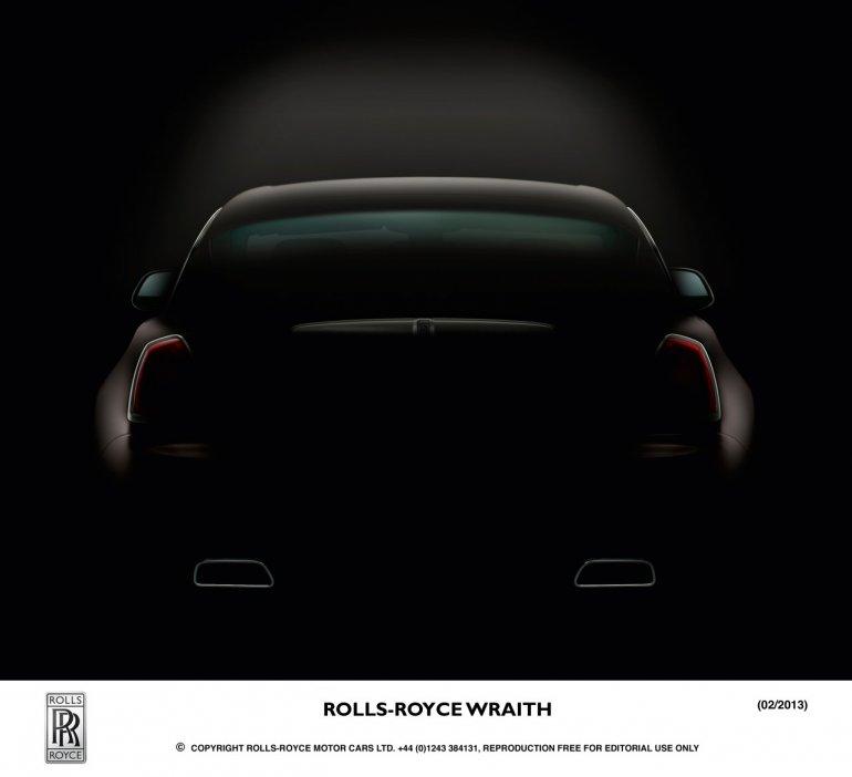 Rolls Royce Wraith rear teaser