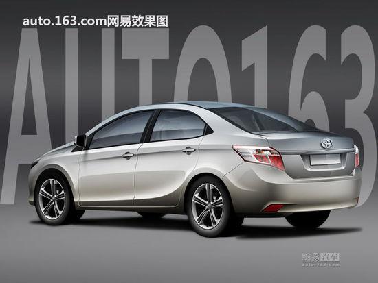 2014 Toyota Vios rendering rear