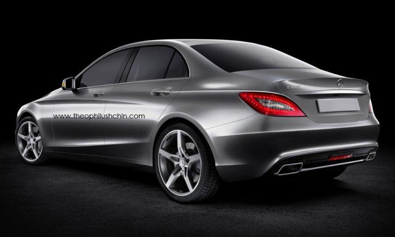 2015 Mercedes C Class rear render