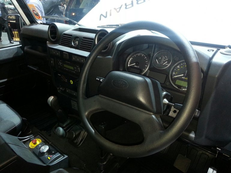Electric Defender Research Vehicle interior
