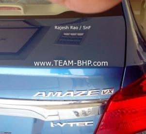 Honda Amaze VX at Indian dealership