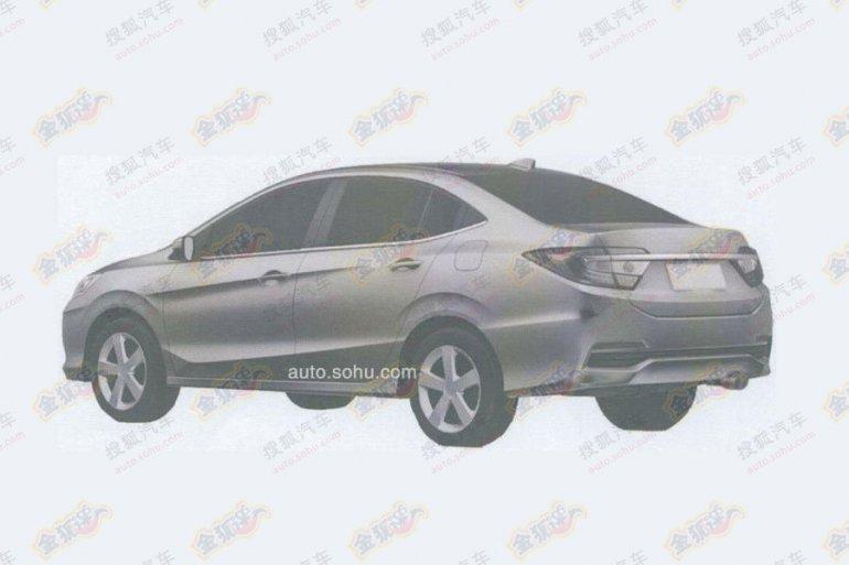 Honda Concept C production model patent sketch rear quarter