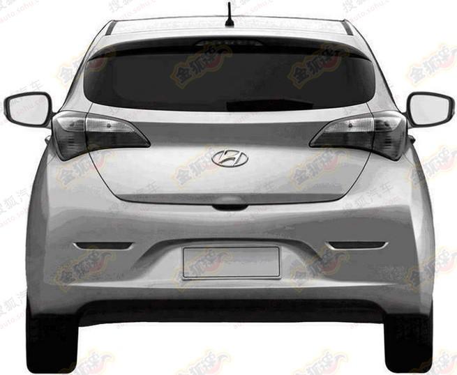 Hyundai HB20 patent leak China rear