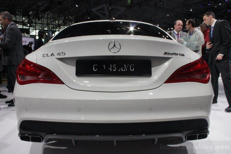 Mercedes CLA 45 AMG rear fascia