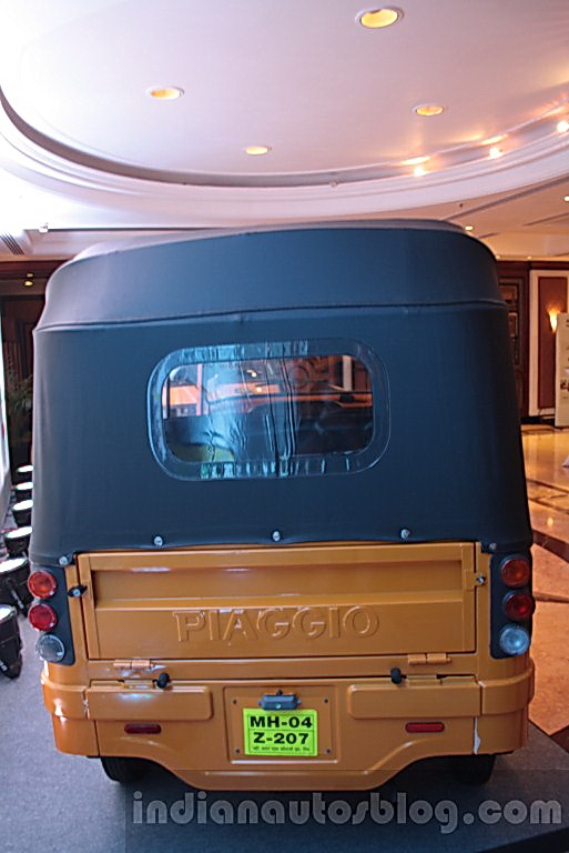 Piaggio Ape City yellow rear