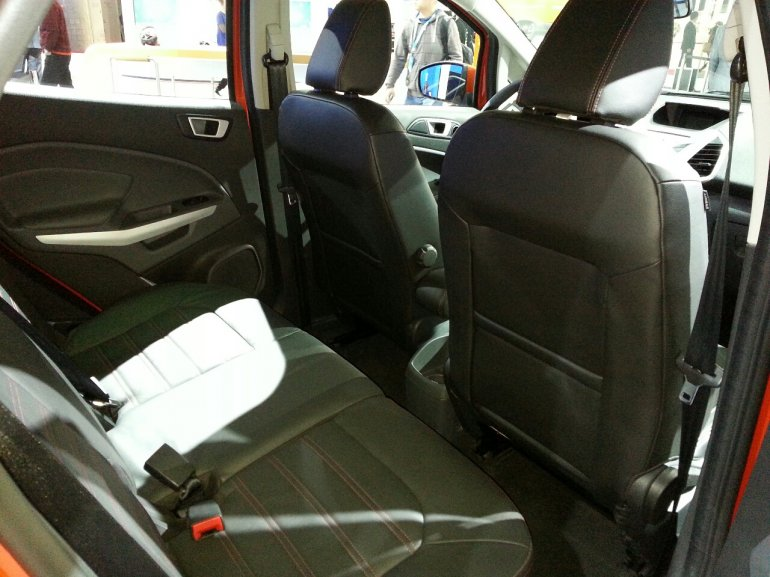Ford EcoSport rear seat at 2013 Auto Shanghai