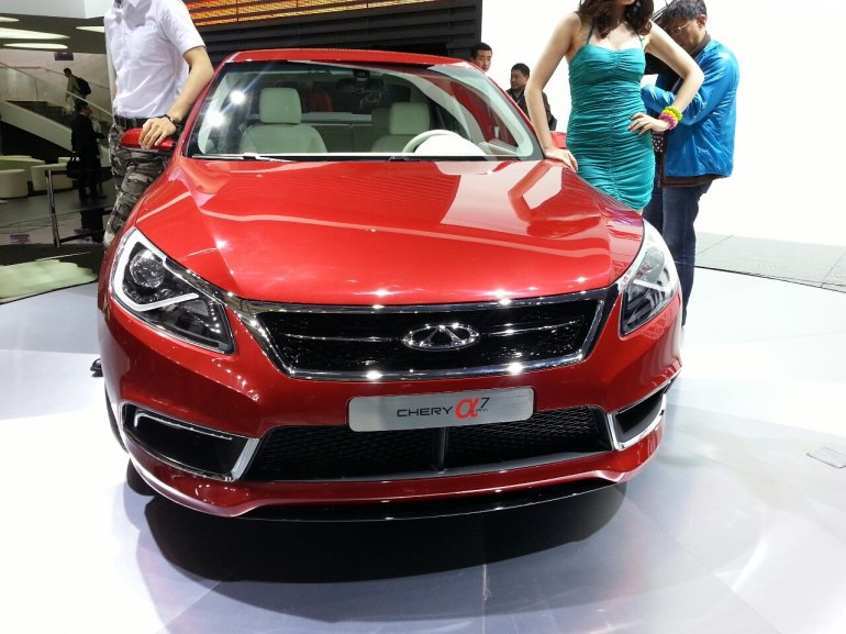 Chery Alpha 7 front at the 2013 Auto Shanghai