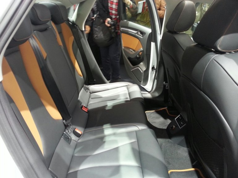 Audi A3 sedan white auto shanghai 2013 black and brown interior