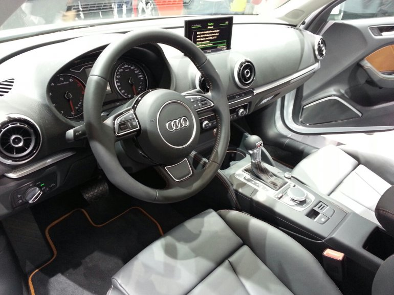 Audi A3 sedan white auto shanghai 2013 black interior